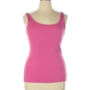 NWT Juicy Couture Solid Pink Ribbed Tank Top XL